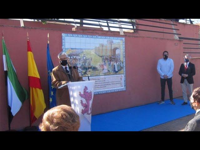 Badajoz recuerda a Alfonso IX con un mural junto al río Guadiana