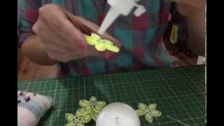 Neşeli Quilling Strafor Top-Quilling Styrofoam Ball- Part1