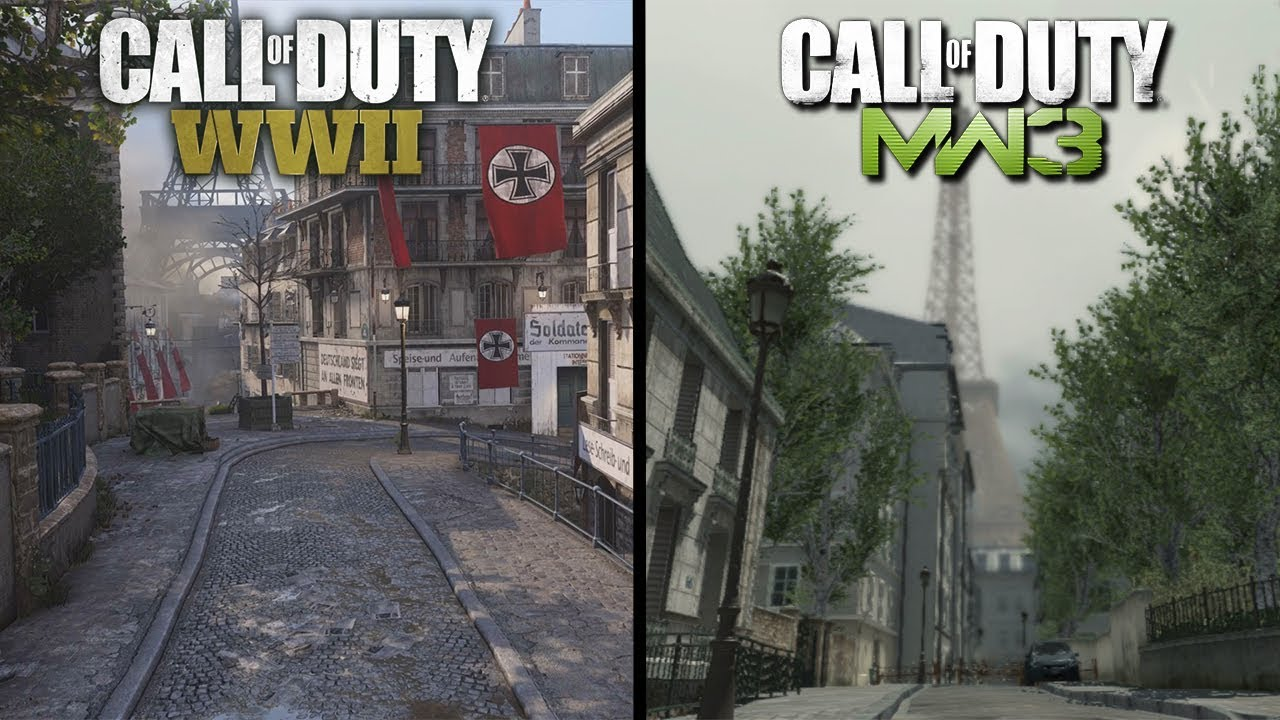 Call of Duty WW2: Occupation Early Gameplay (MW3 Resistance Map Remake)