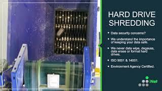 Hard Drive Shredding. Data Destruction using Untha RS30 Shredder