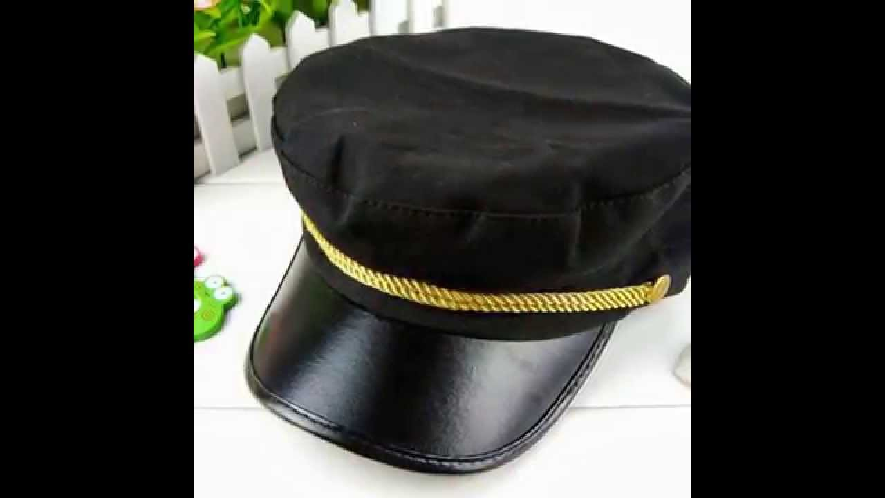 LOCOMOLIFE Women Army Military Navy Marine Captain Skipper Cadet Hat ... 9a9fc31016