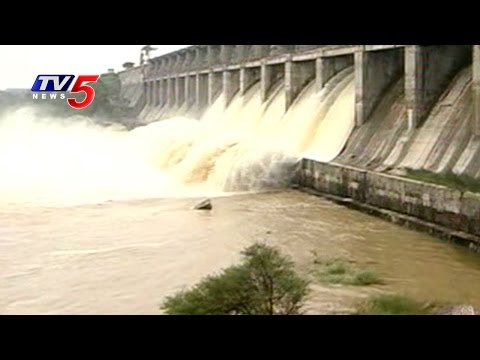 Flood Water Filled with Telangana Irrigation Projects   Telugu News   TV5 News
