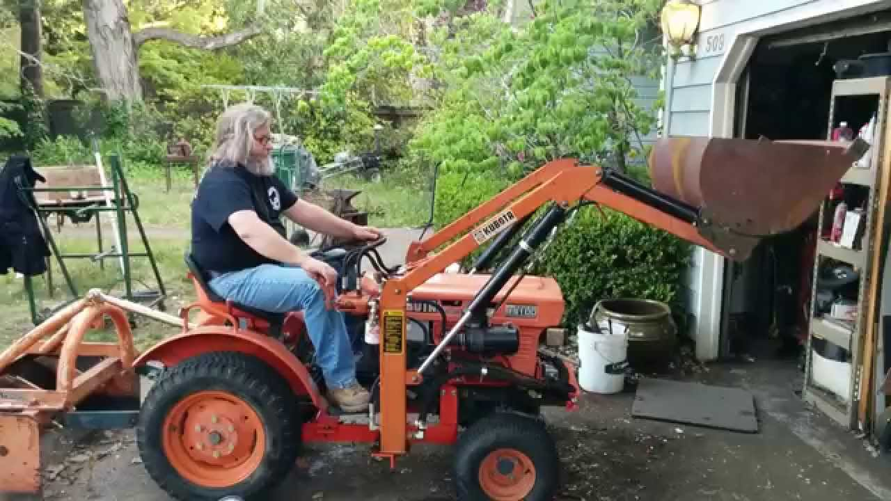 Kubota B7100 Loader Attachment : B w adapted front end loader youtube