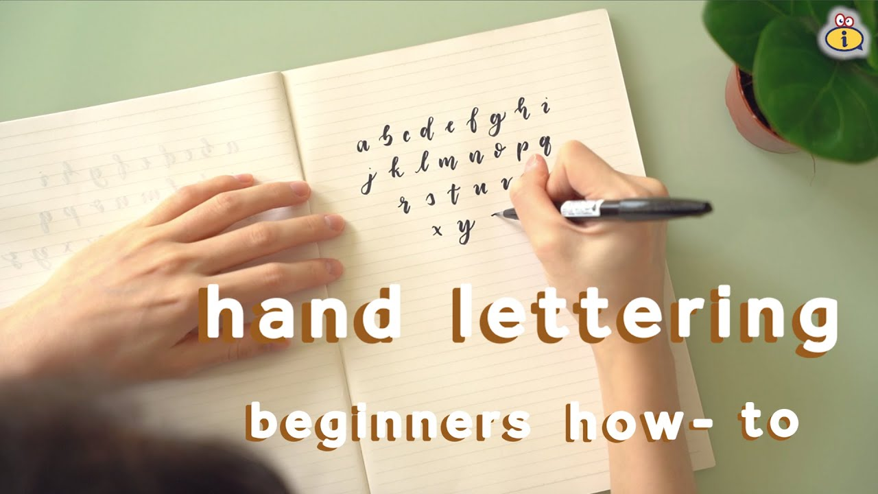 Simple Hand Lettering Art For Beginners!!