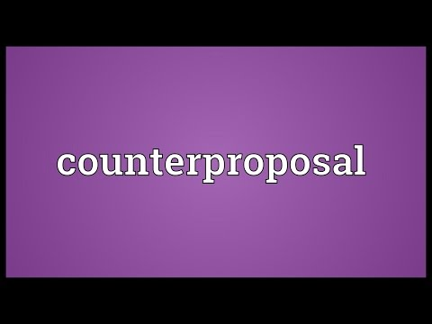 Header of counterproposal