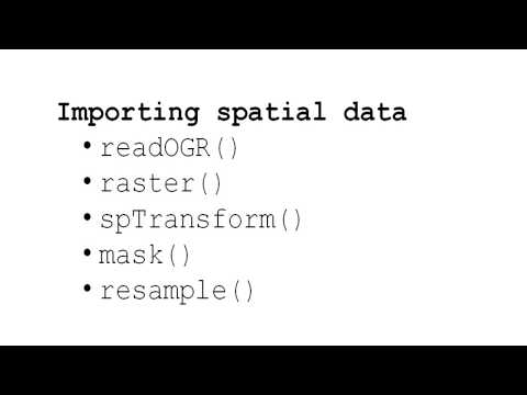GIS And R - Importing Spatial Data
