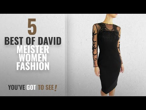 David Meister Women Fashion [2018 Best Sellers]: David Meister Woman's Embroidered Mesh Top/Sleeves
