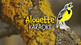Alouette (instrumental - lyrics video for karaoke) (paroles)