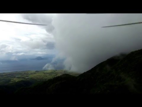 St Kitts Mount Liamuiga Crater Drone Flight