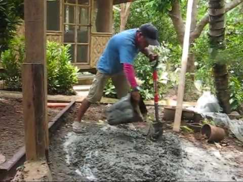 Shannon Does Some Cement Work Perry Finishes The Water Tower A BlindOwl Outdoors Expat Philippines F