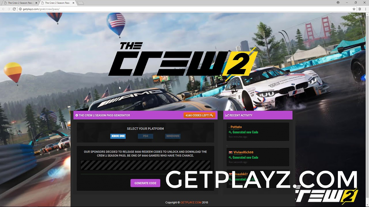 the crew 2 season pass code download xbox one ps4 pc youtube. Black Bedroom Furniture Sets. Home Design Ideas