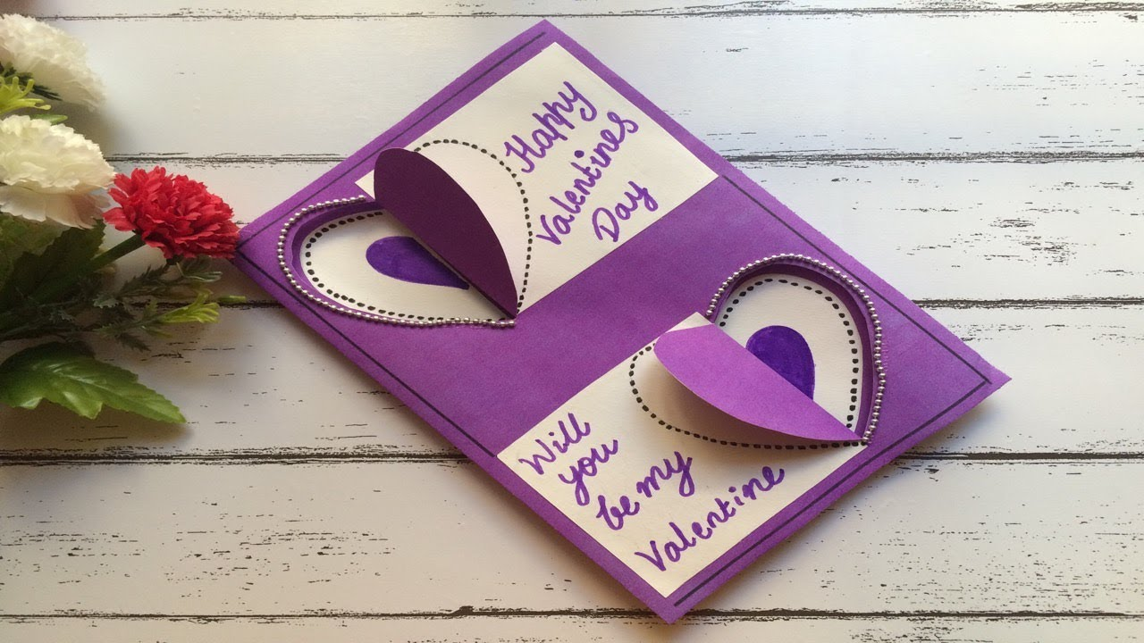 Beautiful Valentine's Day greeting card handmade designs ...