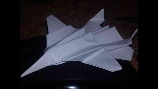 Самолетик из бумаги  F 16 Поделки оригами