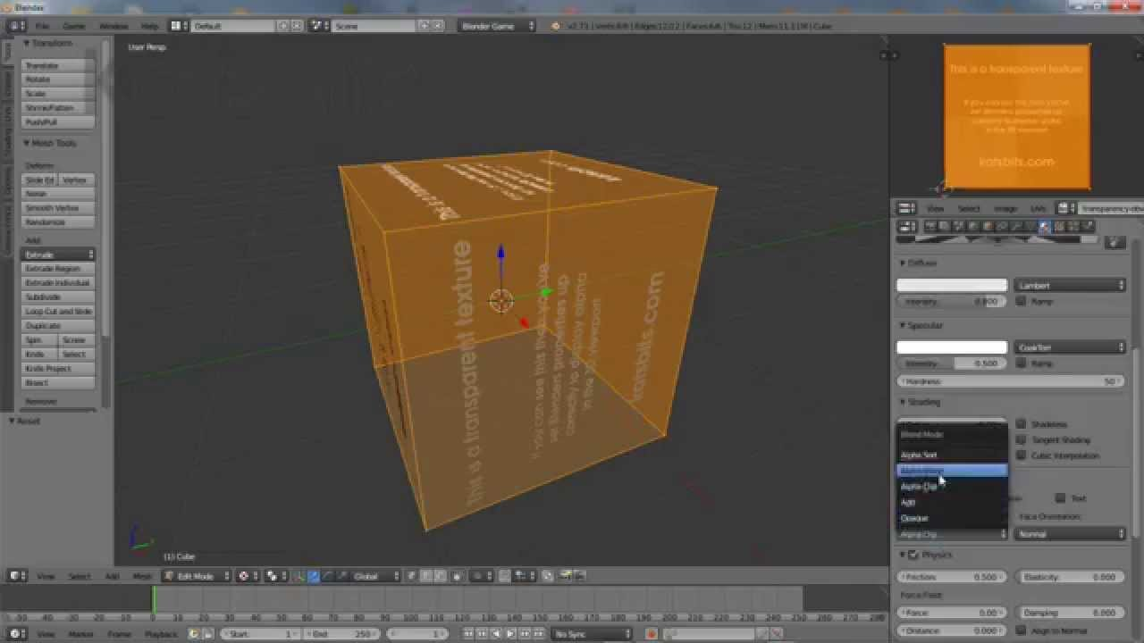 Transparency Textures Alpha Channels Alpha In Blender