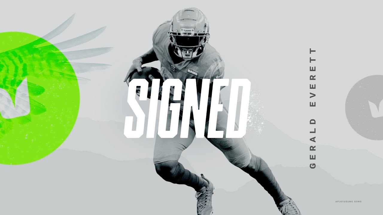 Gerald Everett Signs With Seattle Seahawks   Highlights - YouTube