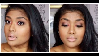 sexy bronzy smokey eye with a pop of color ruthkan91