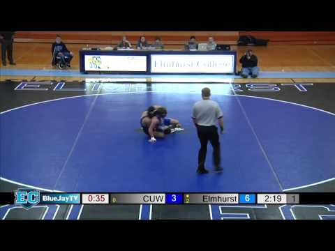 2015-01-09 Elmhurst College Wrestling vs Concordia Universit