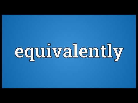 Header of equivalently