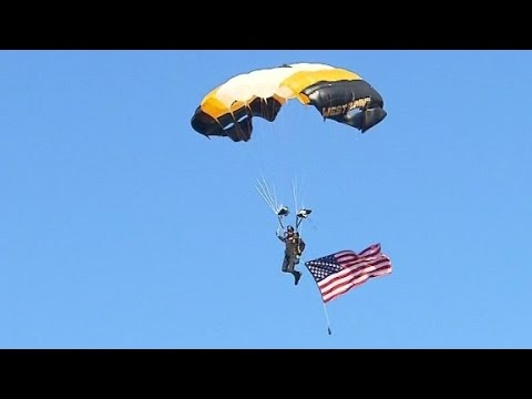 West Point paratroopers deliver game ball