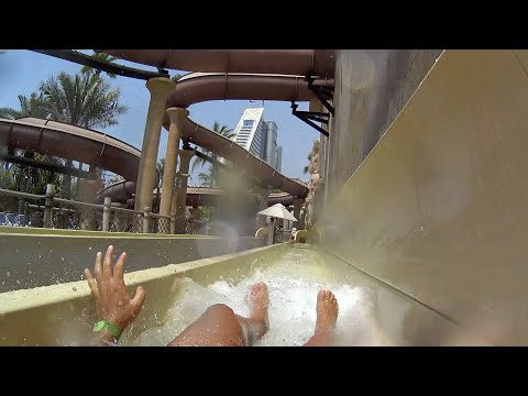 Scary Giant Jumeirah Sceirah Slide at Wild Wadi Waterpark