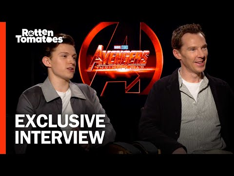 Benedict Cumberbatch Can't Say Bedazzled - Cast of 'Avengers: Infinity War' Interview
