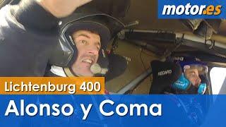 Fernando Alonso y Marc Coma - Shakedown Lichtenburg 400 - Toyota Hilux