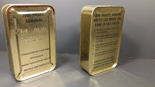 1956 & 1962 Food Packet SA-5 & SA-8 Two Pilot Survival Rations MRE Review US Air Force Unboxing Test