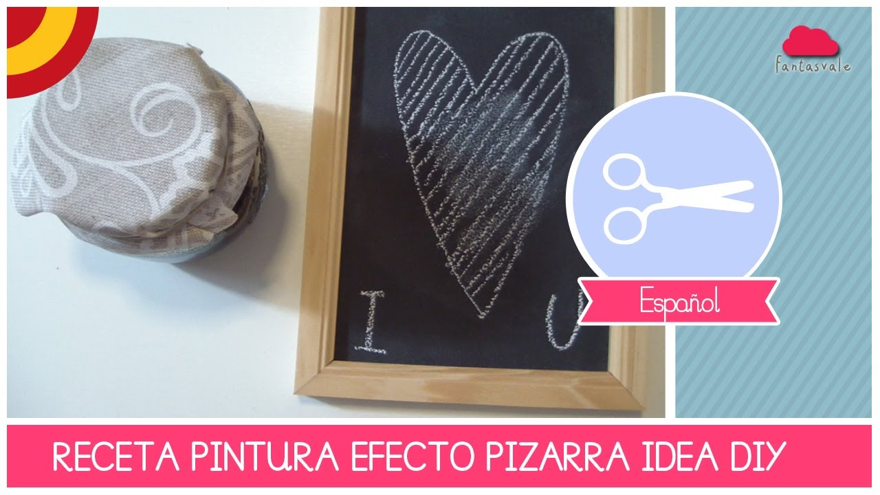 tutorial como hacer una pintura de pizarra diy receta by fantasvale youtube