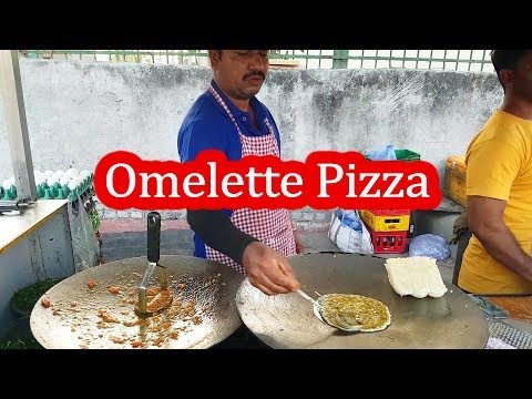 Yummy Omelette Pizza – No Cheese | Egg Recipe Hindi  | Indian Street Food