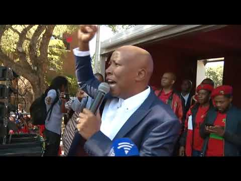 FULL SPEECH: Julius Malema addresses EFF supporters after court appearance
