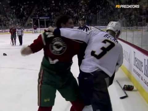 Wade Belak vs Derek Boogaard Dec 2, 2009