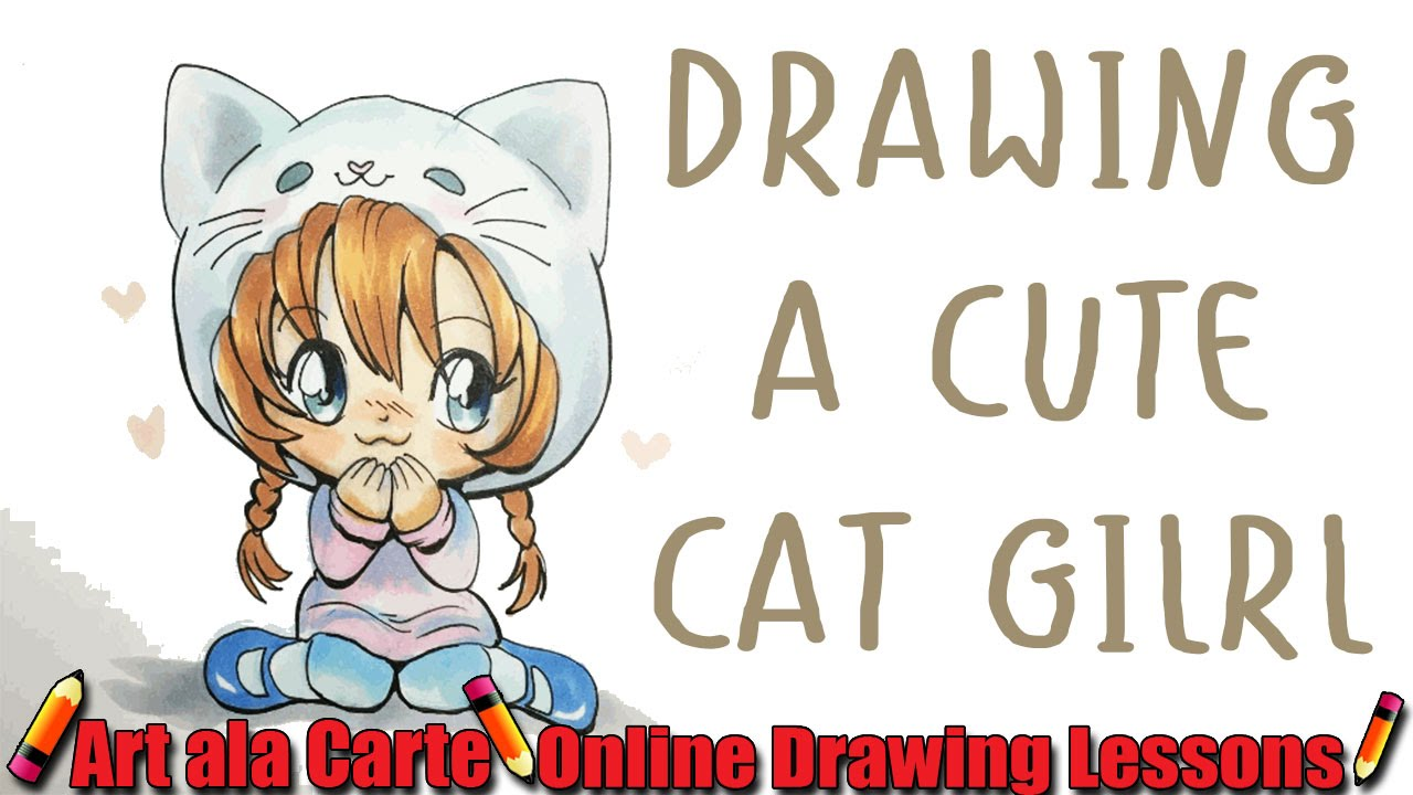 How to draw a chibi cat girl plus commissions