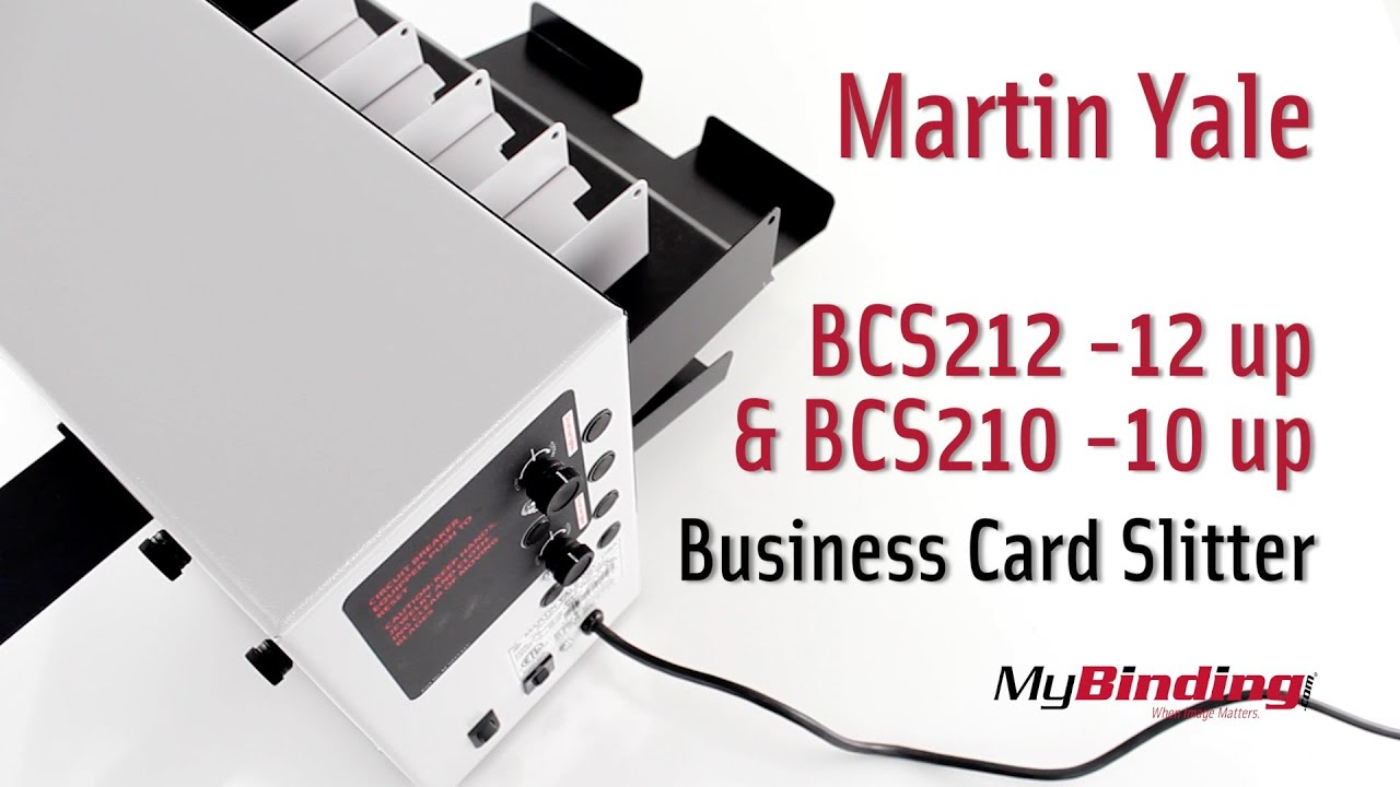 Martin Yale BCS212 & BCS210 Tabletop Business Card Slitter - YouTube