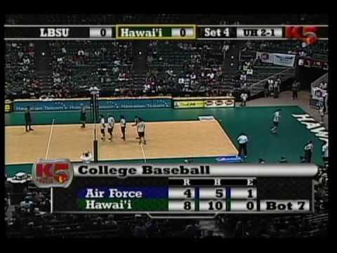 Hawaii Warrior Volleyball 2010#5 Warriors Vs #8 Long Beach State part 9 of 11