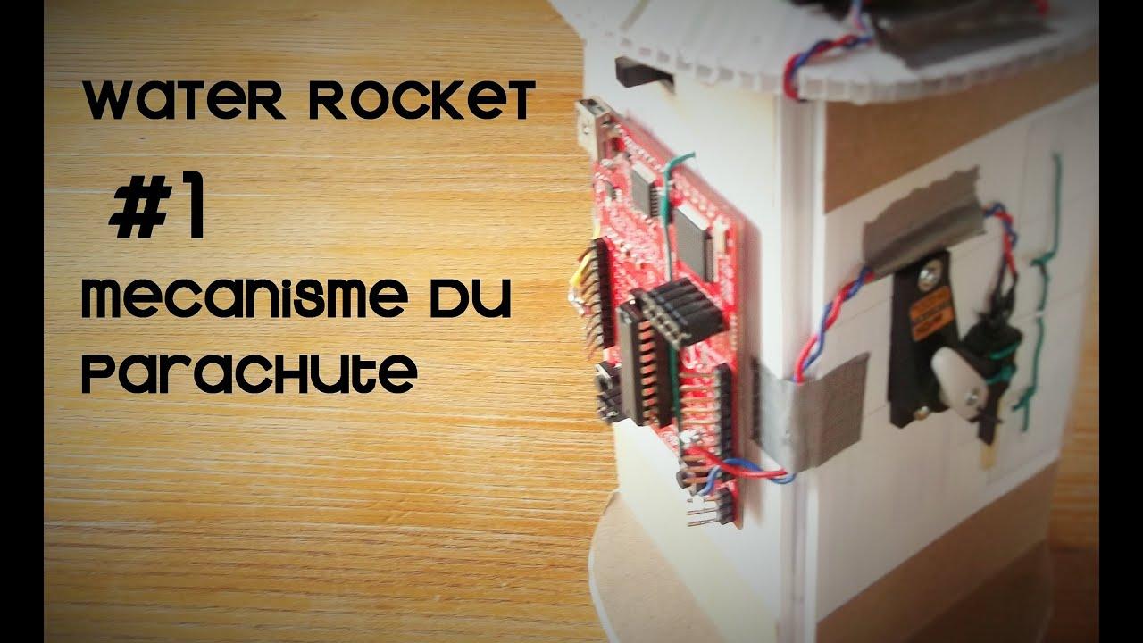 WATER ROCKET #1 -  mecanisme de deploiement du parachute