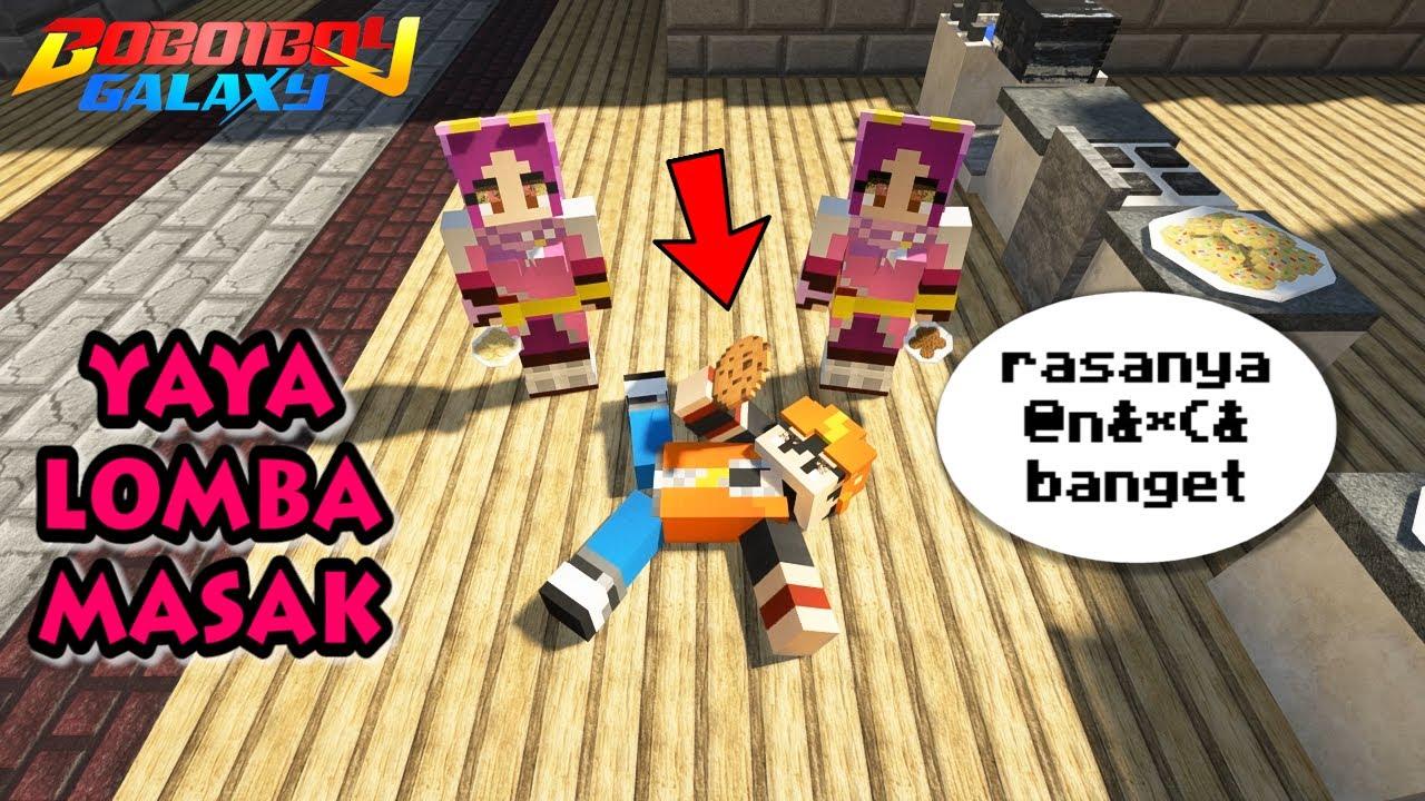 Yaya & Yaya PALSU Lomba Masak, BoBoiBoy Jadi Juri - Minecraft BoBoiBoy Mod