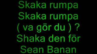 Sean Banan - Skaka rumpa (Lyrics)