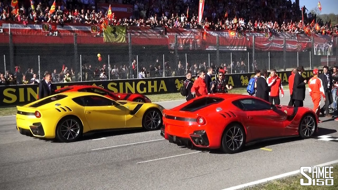 first look ferrari f12 tdf walkaround and donuts with. Black Bedroom Furniture Sets. Home Design Ideas