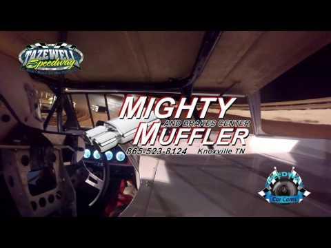 #97 Aaron Guinn - Sportsman 2nd Feature - 5-28-17 Tazewell Speedway - In-Car Camera