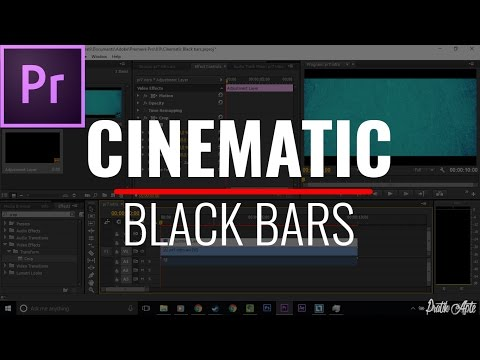 How To Add Cinematic Black Bars To Video In Premiere Pro