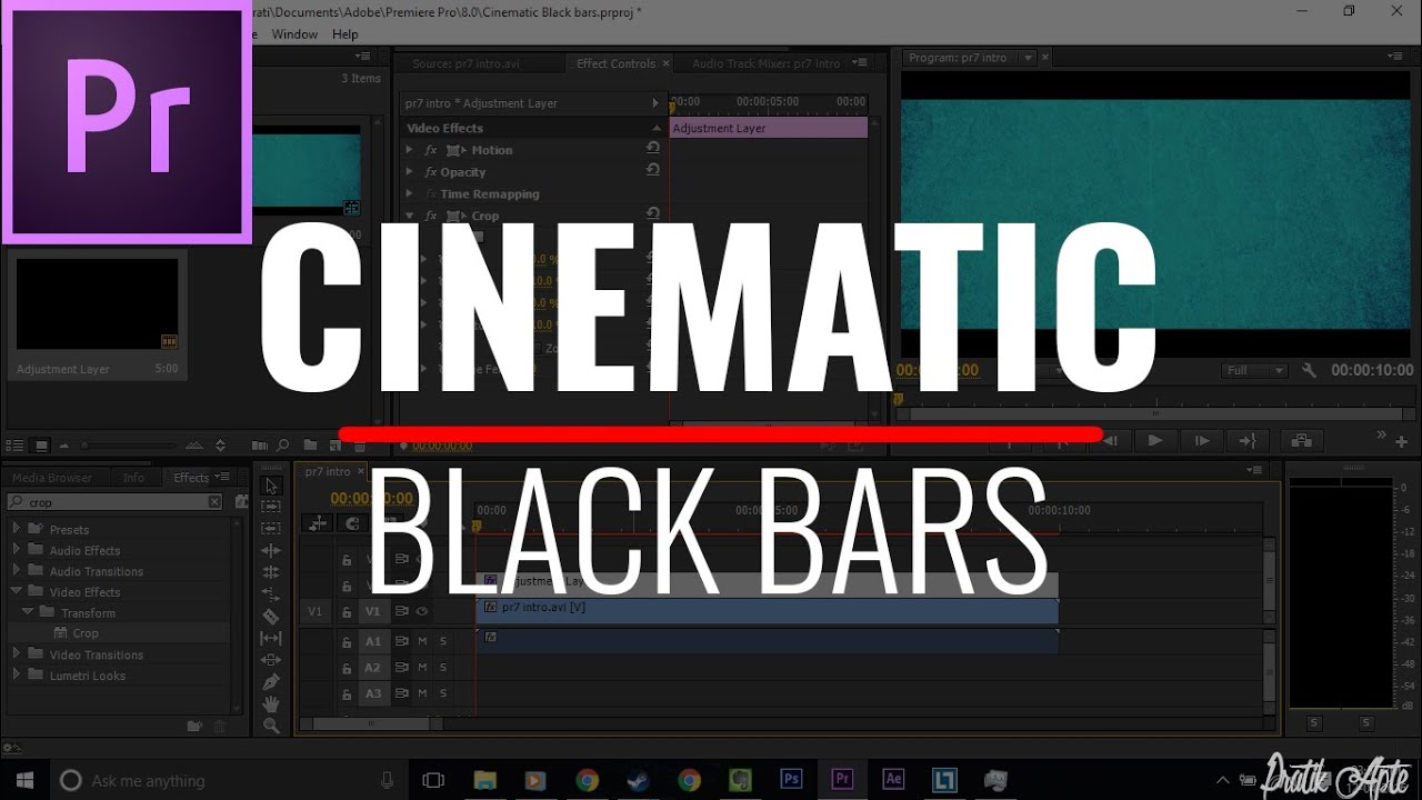 How to add cinematic black bars to video in premiere pro youtube ditch the ads spiritdancerdesigns Image collections