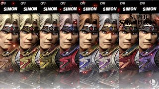 Super Smash Bros Ultimate All Simon Costume Gameplay!