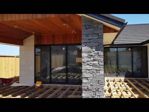 Premier Mansion Brick in White with Premier Alpine Jurassic Walling -2