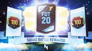 INSANE WALKOUT! TOP 100 SQUAD BATTLES REWARDS - FIFA 20 Ultimate Team
