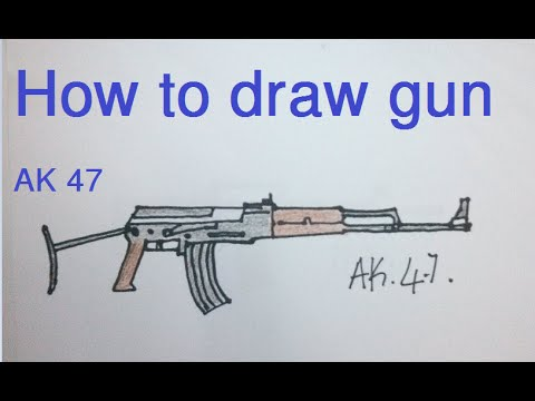 How To Draw Gun How To Draw Ak 47
