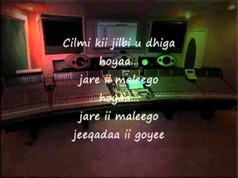 Somali Lyrics   Karaoke   Jamadeey   By You ~