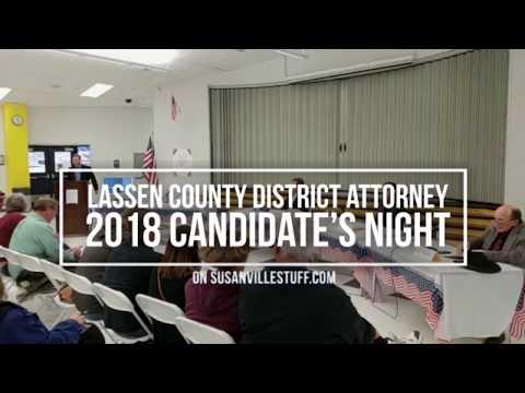 Lassen District Attorney Candidate's Night on SusanvilleStuff