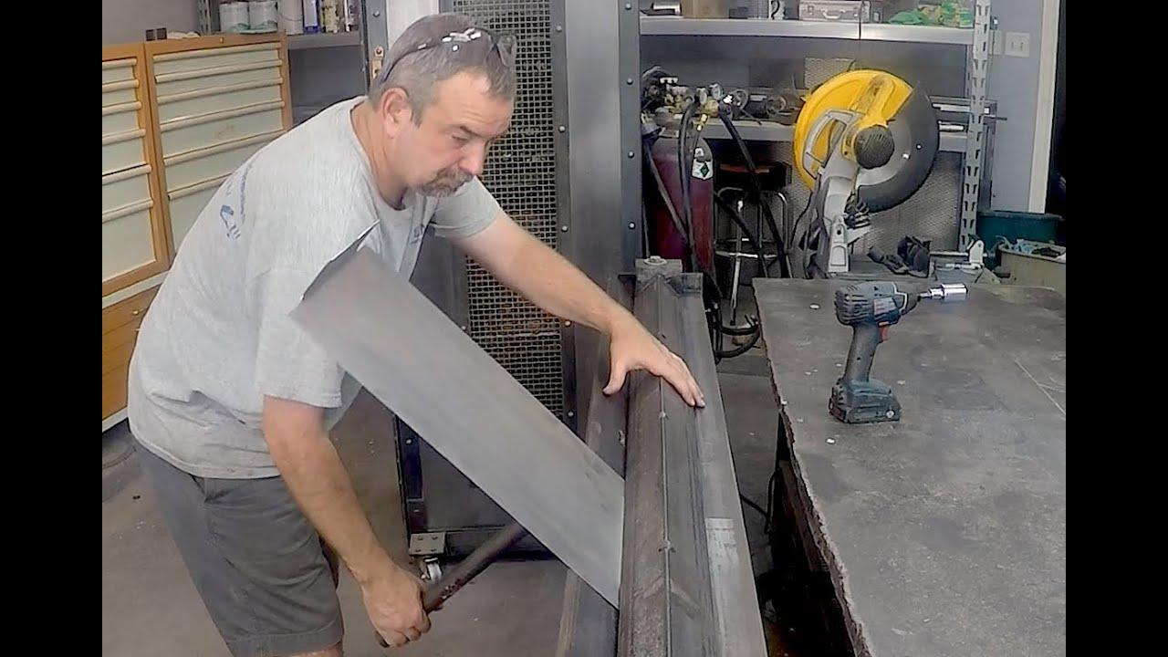 Home Made Sheetmetal Brake Metal Bender Enhancements