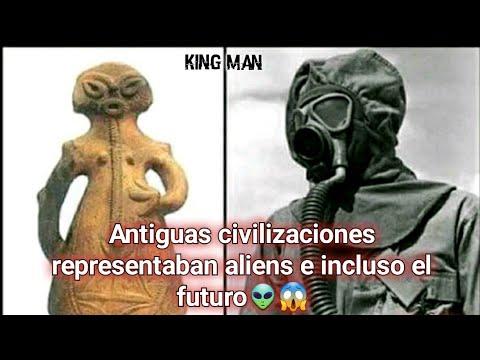 Antiguas civilizaciones plasmaron alienígenas, naves espaciales e incluso el futuro ??