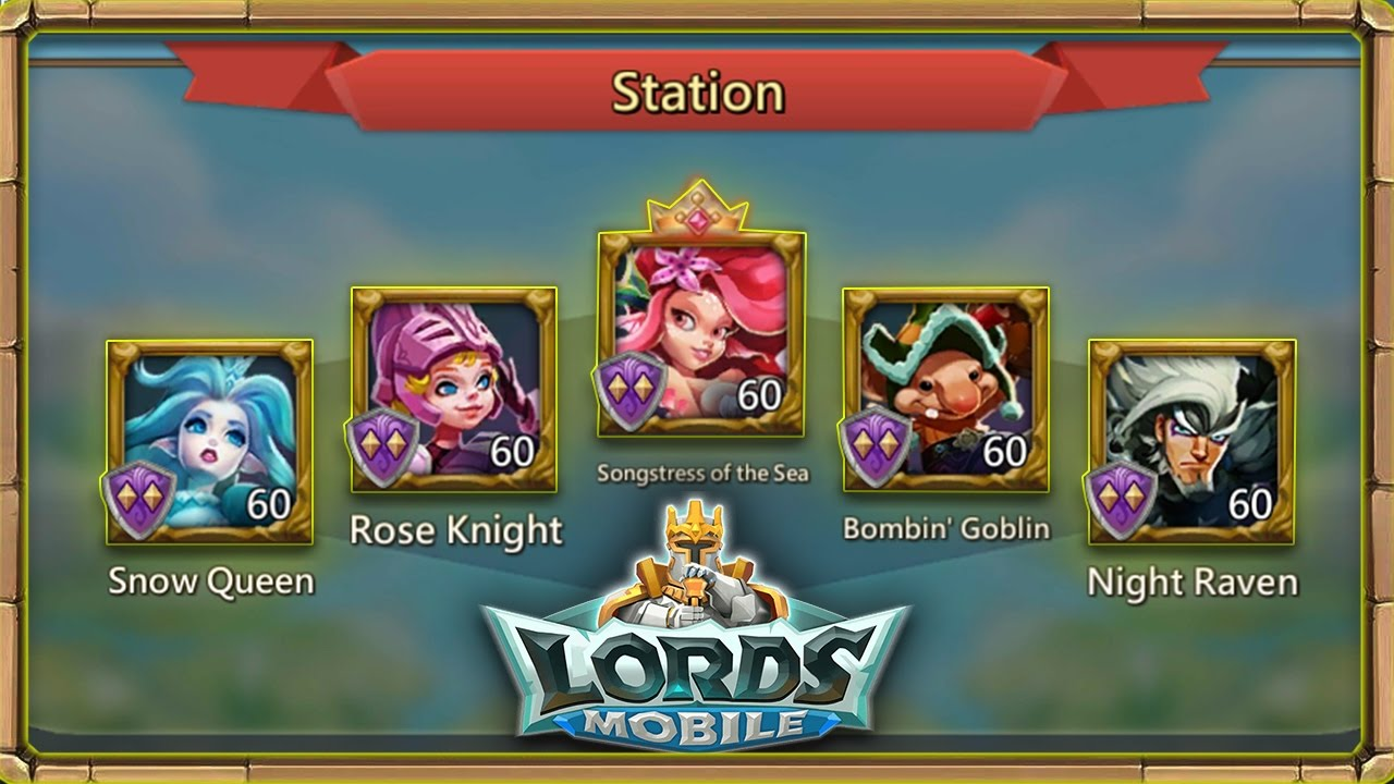 Lords Mobile: Right Heroes to use for your Stations/Garrisons!
